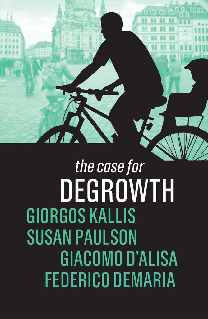 "okładka książki ""The case for degrowth"""